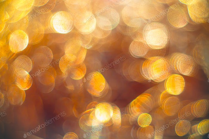 Golden streamers with sparkling glitter - Christmas holidays hackground