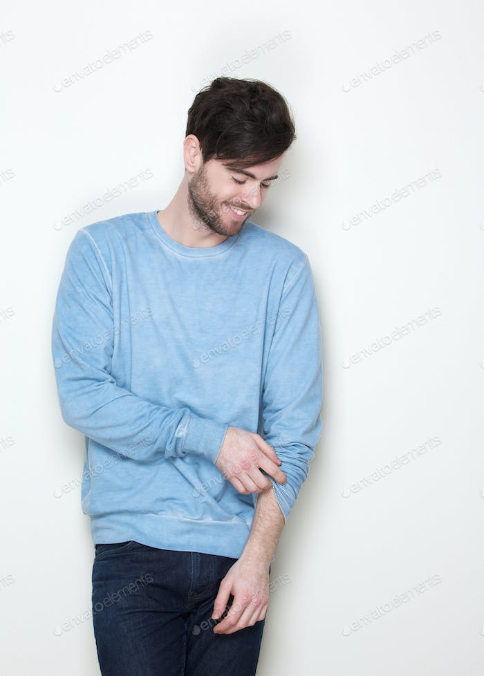 Cool guy with casual clothes smiling
