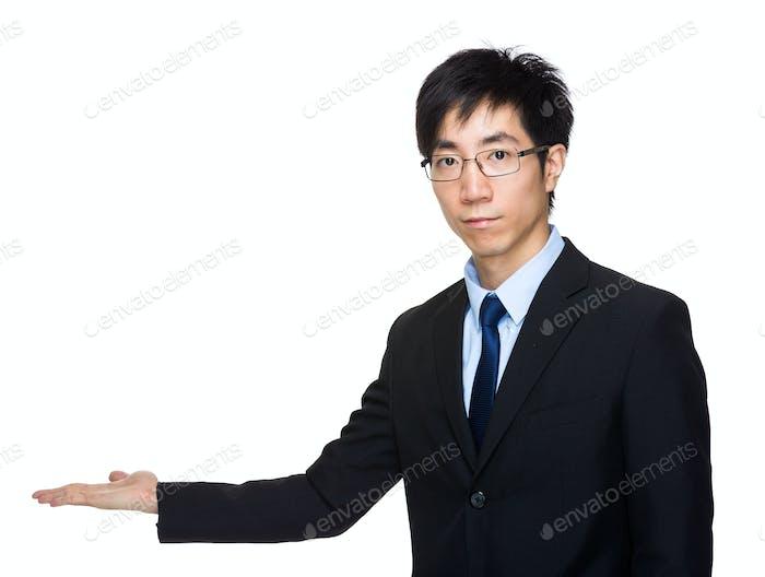 Asian businessman present