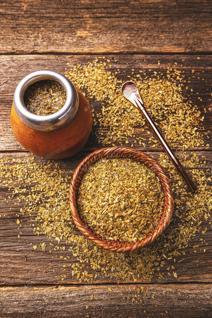 Yerba mate in calabash