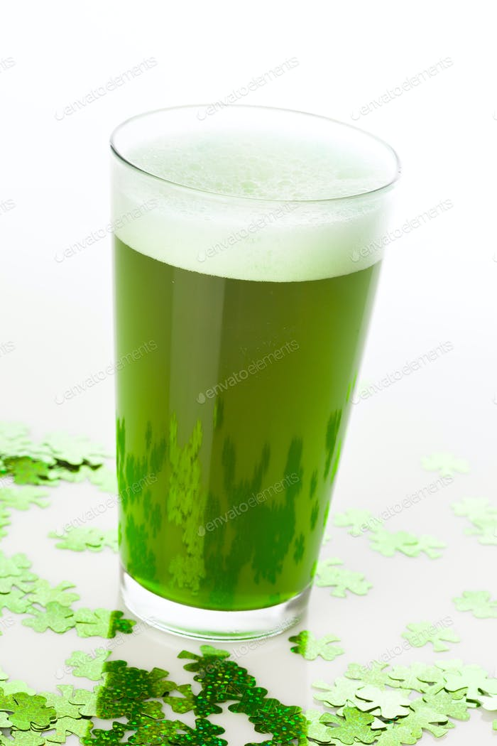 Dyed Green Beer for St. Patricks Day
