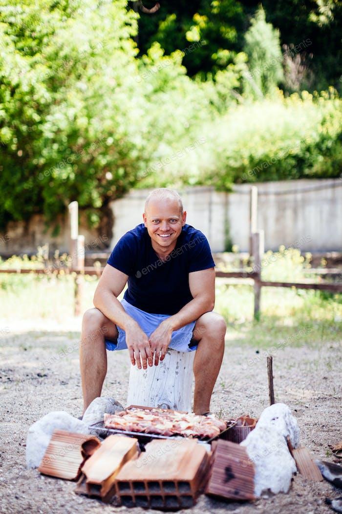 Mann Kochen BBQ
