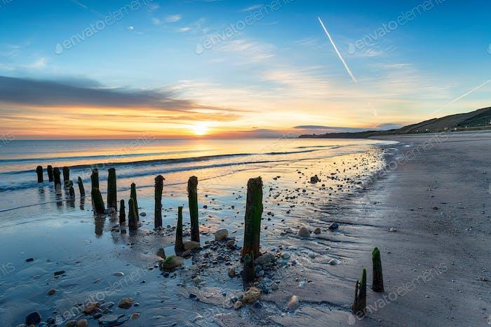 Stunning Sunrise over Sandsend Beach