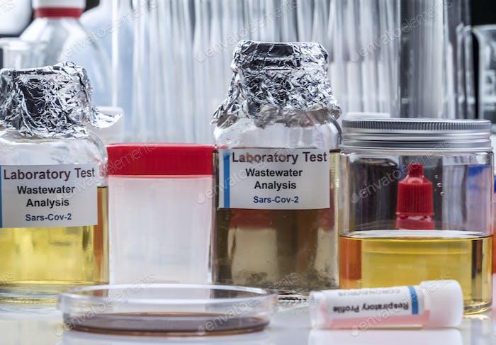 Muestras de aguas residuales, análisis del virus sars-cov-2