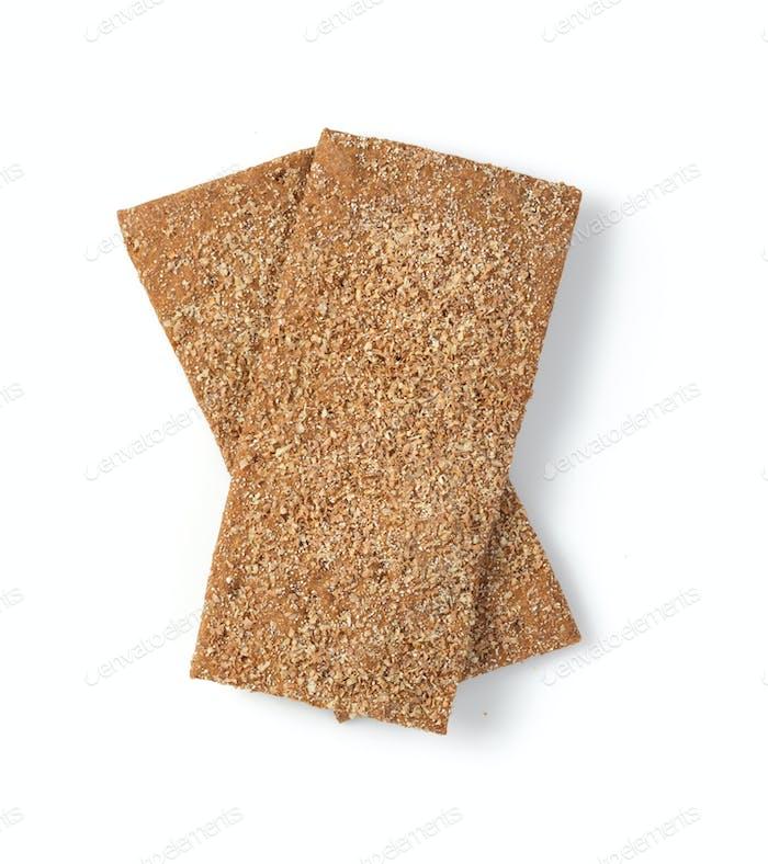 crispy bread isolated on white