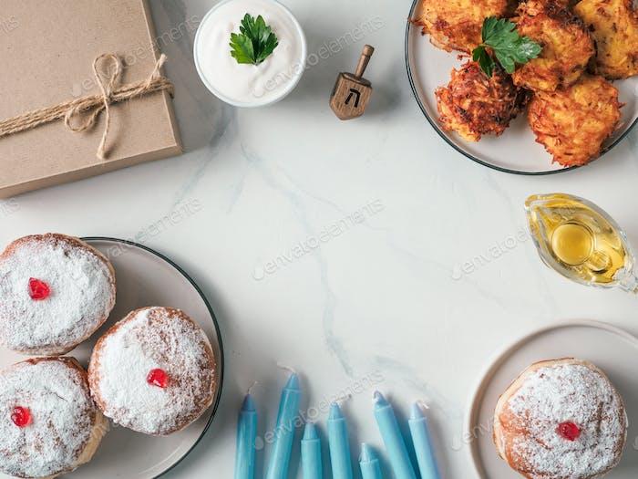 jewish holiday Hanukkah concept background