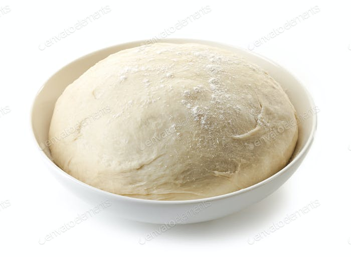 bowl of fresh raw dough