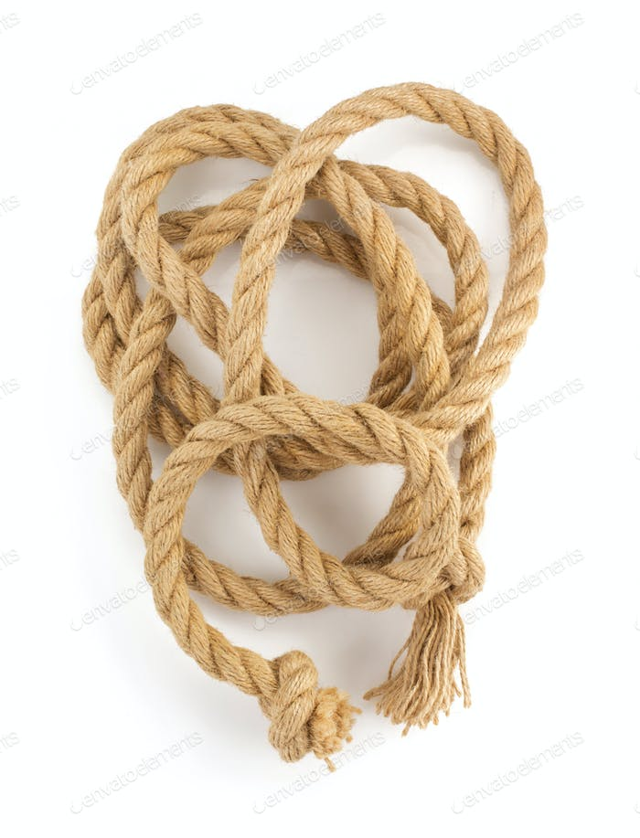 ship ropes on white
