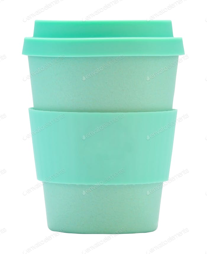 Isolated Reusable Coffee Cup