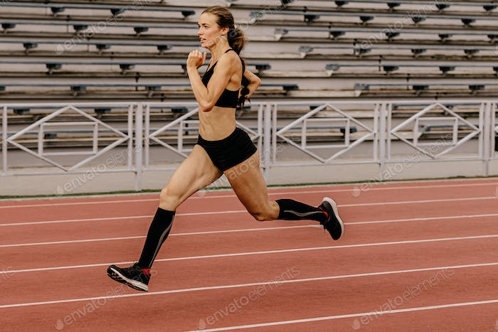 young female athlete runner