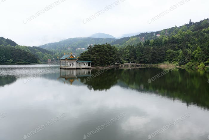 shady bower on the lake