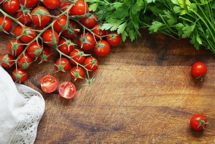 Holz-Food-Hintergrund