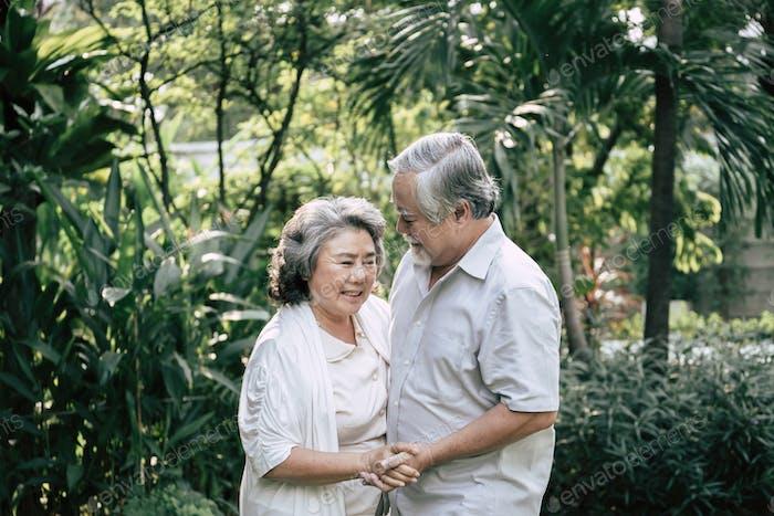 Elderly Couples Dancing together
