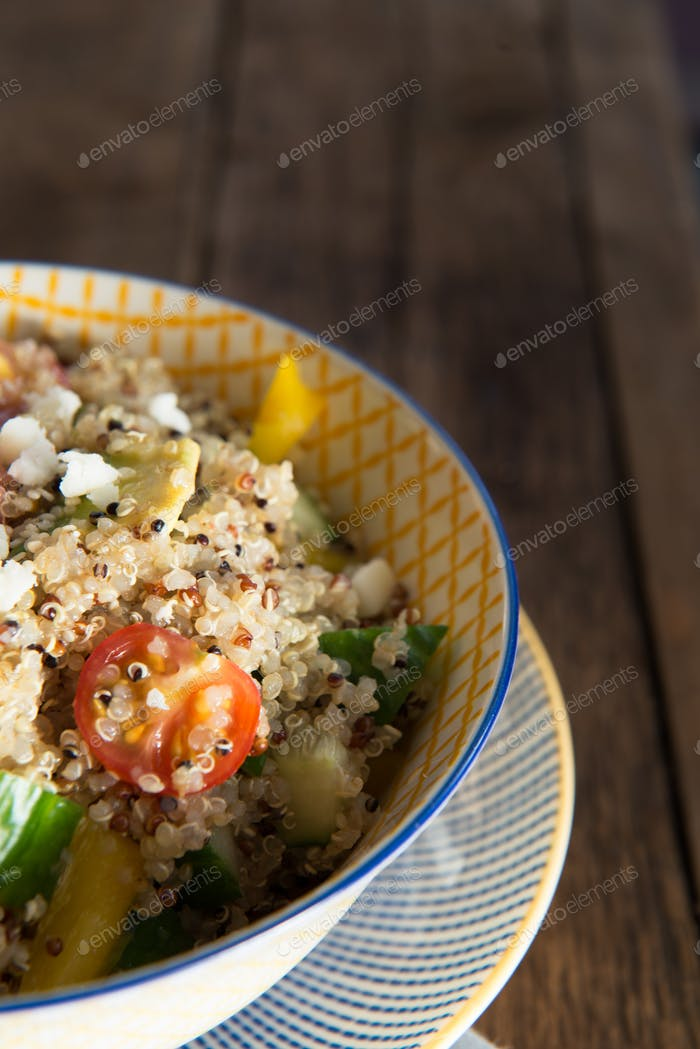 Quinoa and Fresh Vegetables