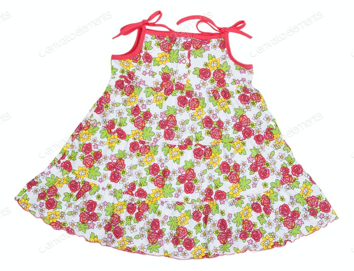 colored rose children's summer dress