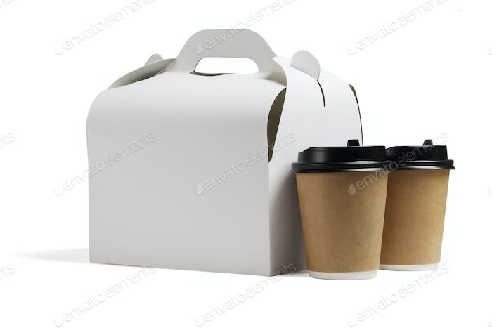 Lunch Box and Coffee Cups