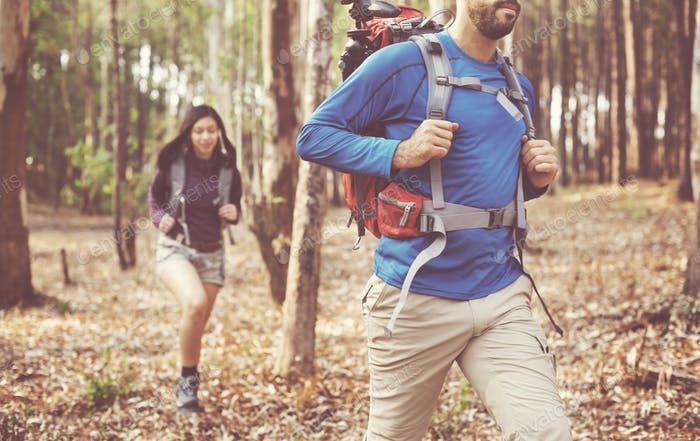 Adventure Backpacker Camping Traveler Trip Concept