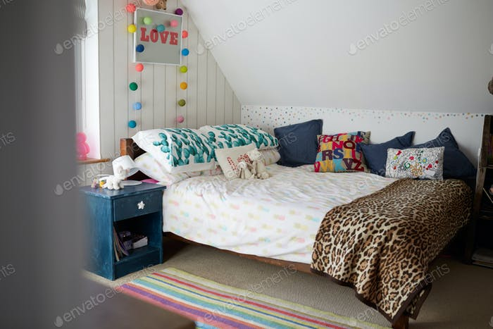 Child's Bedroom In Contemporary Family Home