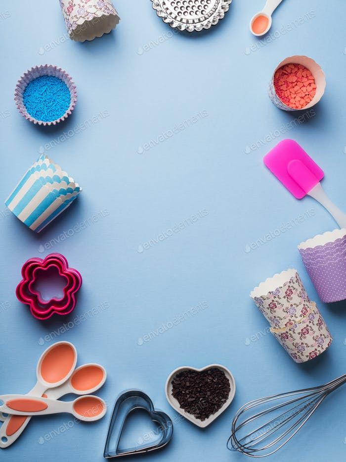 Sweet baking concept. Girlish style
