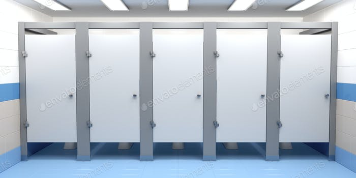 Public toilet cubicles