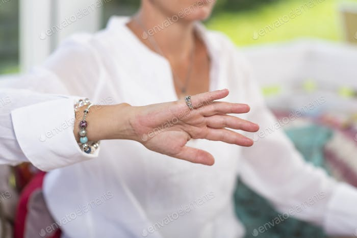 Giving Virtue Hand Gesture