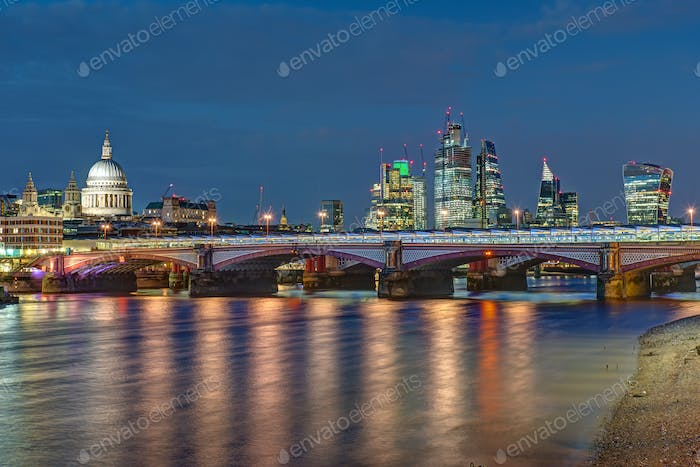 St Pauls cathedral, Blackfriars Bridge and the City