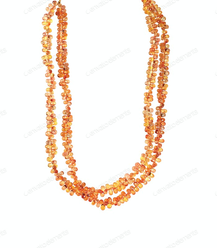 Beaded amber Gemstone Necklace