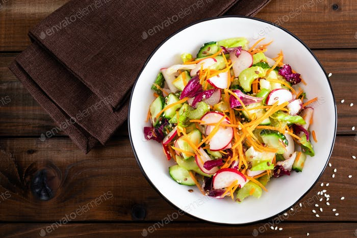 Healthy vegetarian vegetable salad