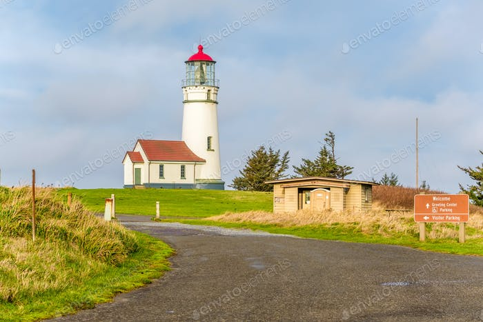 Cape Blanco Lighthouse at Pacific coast, built in 1870