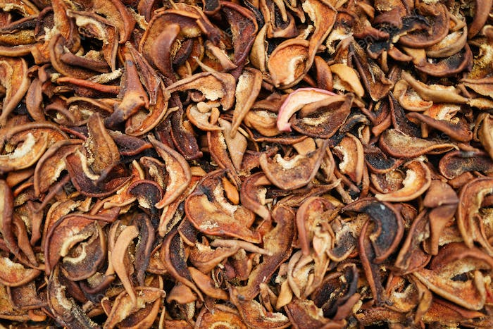 Background of dried fruit, at the open air market