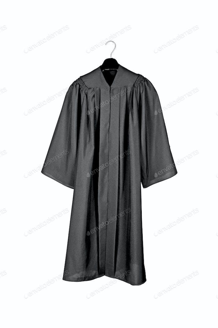 Black graduation gown