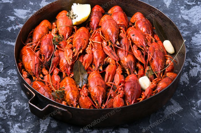 delicacy boiled crawfish