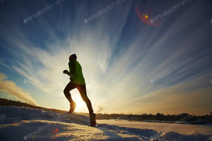 Running in snowdrift