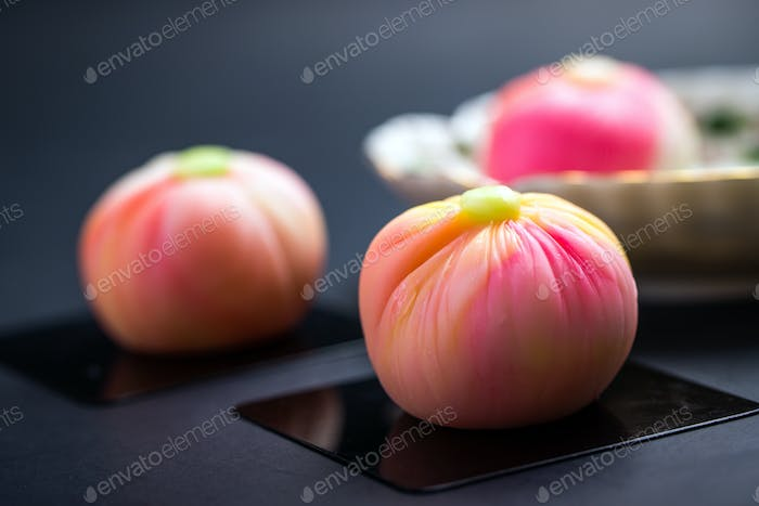 Japanese traditional confectionery cake wagashi