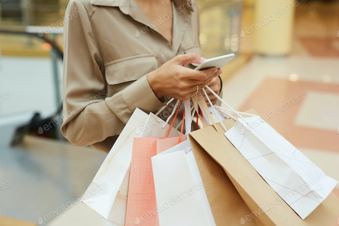 Woman holding purchases
