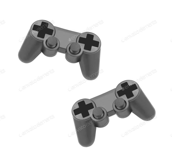 gamepads on white background isolated