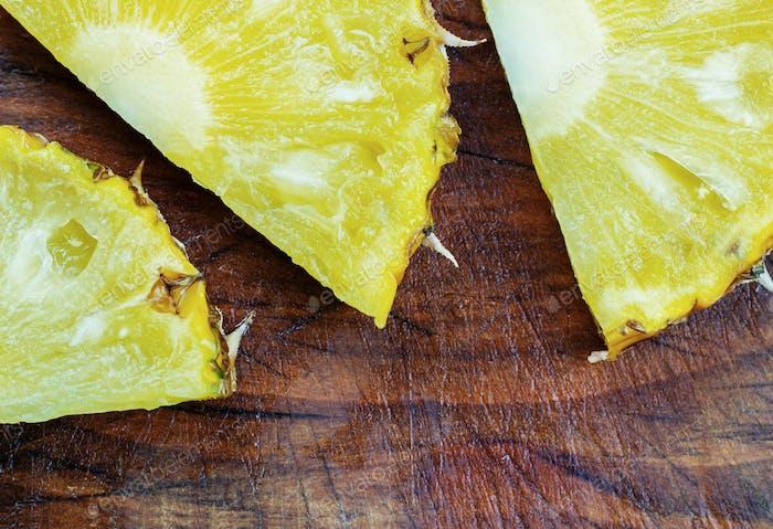 pineapple on wooden
