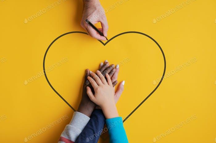 Imagen conceptual de familia y unidad