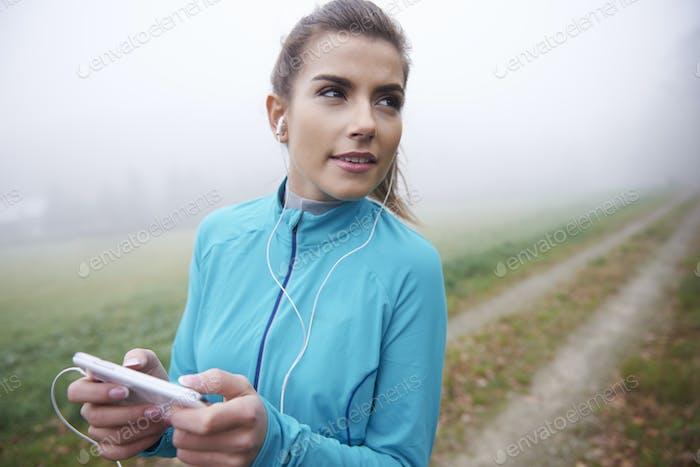 Good sounds help me find motivation for running
