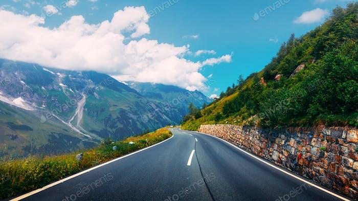 Amazing view of alpine pass
