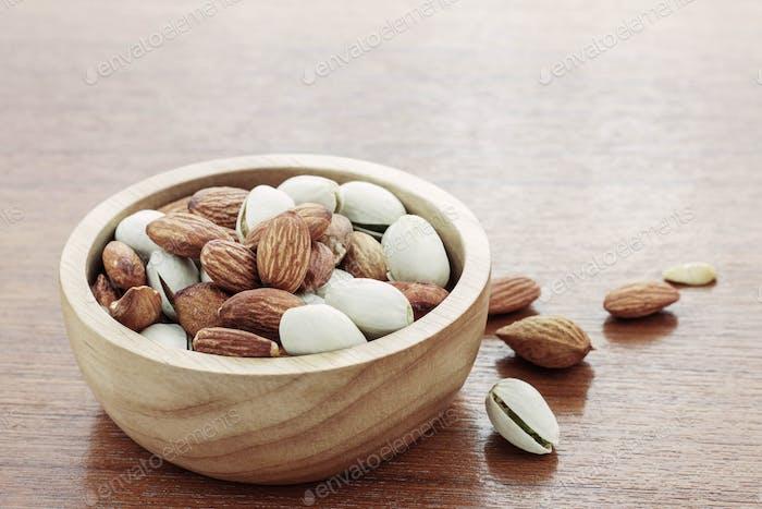 Almonds on wood floors