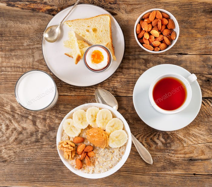 Breakfast in the morning,