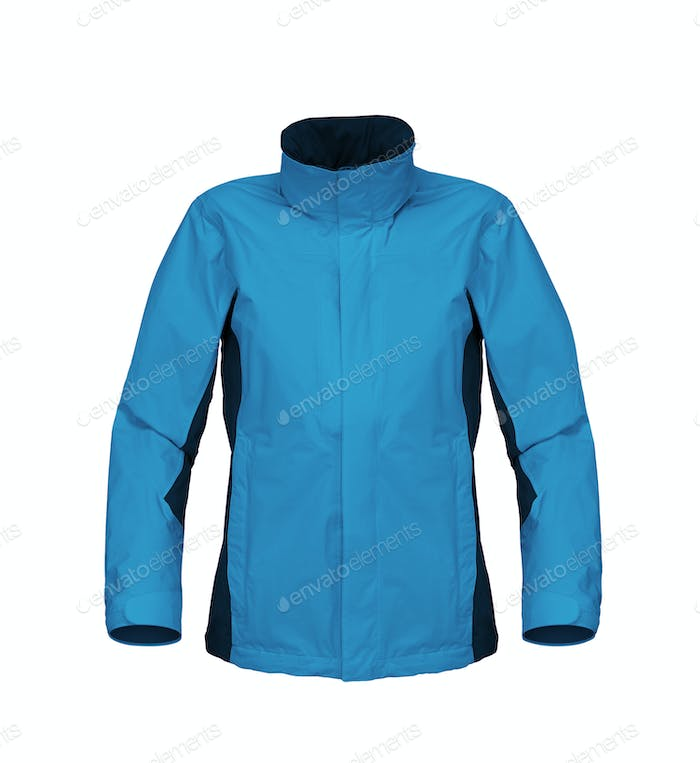 blue jacket isolated on white background