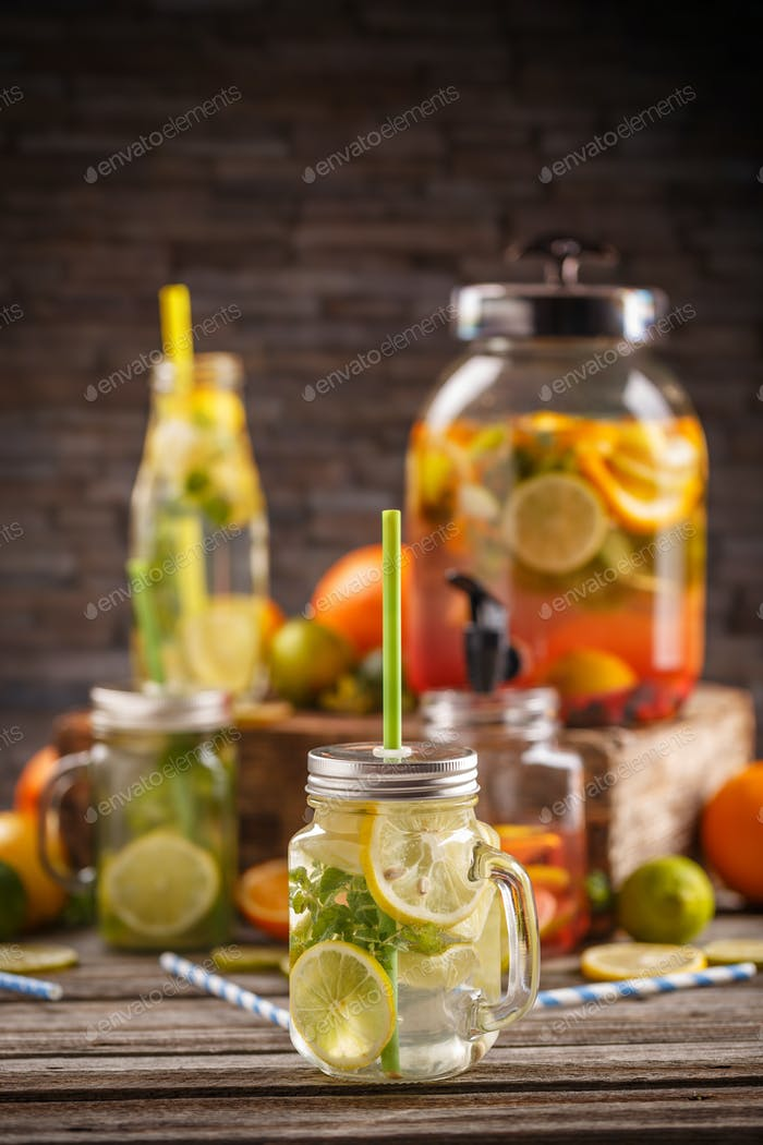Fresh cool citrus lemonade