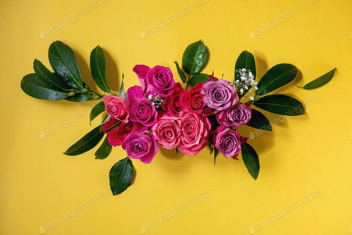 Kreative Layout Rosen Blumen