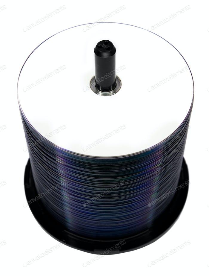Вид сверху пустой дисковый шпиндель (изолированный на белом)