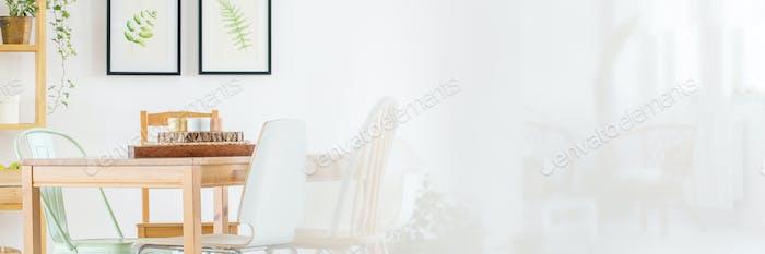 Wooden design of room