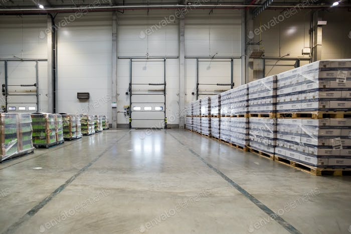 Storage warehouse interior