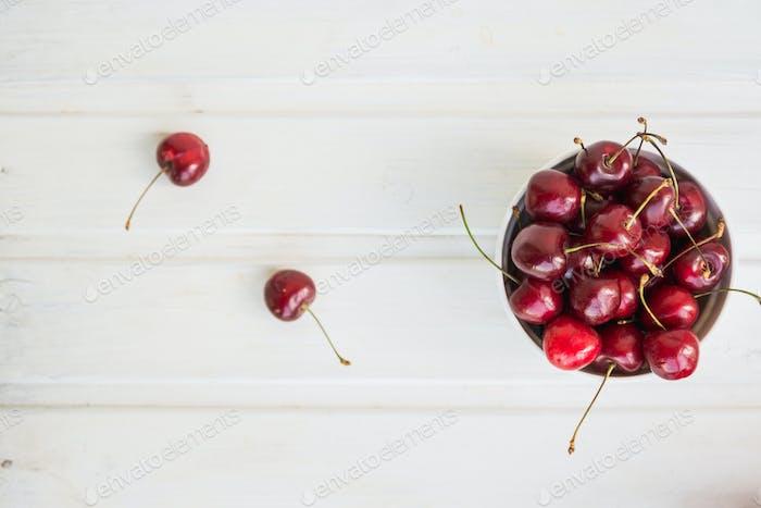 full plate of cherries