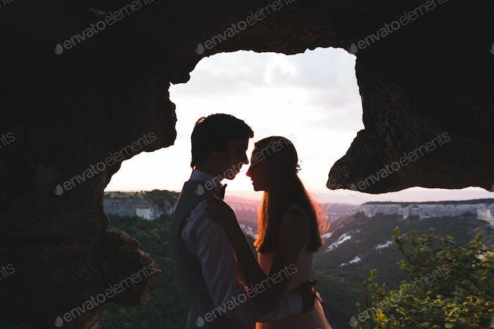wedding celebration in the mountains